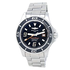 Breitling Superocean 44 Stainless Steel Automatic Black Men's Watch A17391