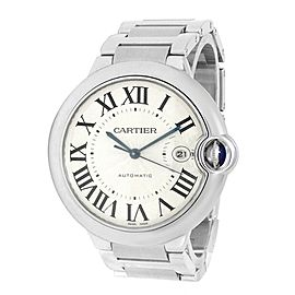 Cartier Ballon Bleu Stainless Steel Automatic Silver Men's Watch W69012Z4