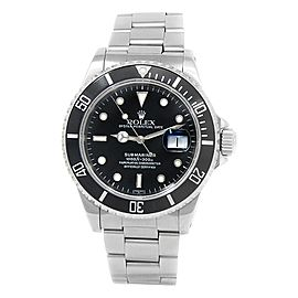 Rolex Submariner Stainless Steel Oyster Automatic Black Men's Watch 16610