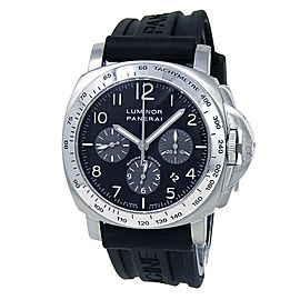 Panerai Luminor Chronograph Stainless Steel Rubber Black Men's Watch PAM00162