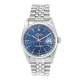 Rolex Datejust Stainless Steel Jubilee Automatic Blue Men's Watch 16200