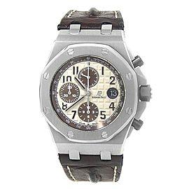 Audemars Piguet Royal Oak Offshore Steel Ivory Men's Watch 26470ST.OO.A801CR.01