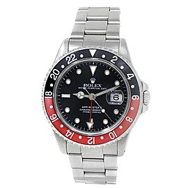 "Rolex GMT-Master II ""Coke"" Stainless Steel Oyster Auto Black Men's Watch 16710"