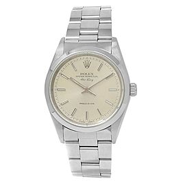 Rolex Air-King Stainless Steel Oyster Automatic Silver Men's Watch 14000