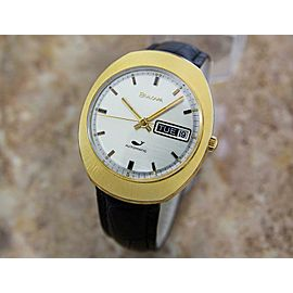 Bulova Mens 35mm Automatic Gold Plated Swiss 1960s Classic Vintage Watch J53
