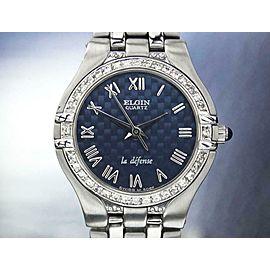 Elgin Ladies Swiss Made 24mm Quartz Unworn Beautiful Dress Watch 2000s J6619