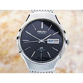 Seiko LM Lord Matic Men's Japanese 1970s 25 Jewels Stainless 36mm Watch JA48
