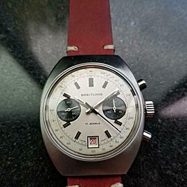 Men's Breitling Datora Ref.592 38mm Manual Wind Chronograph c.1960s LV897RED