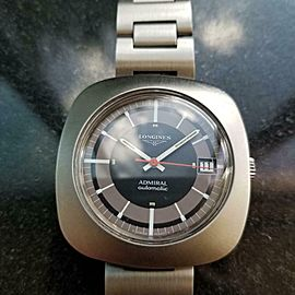 Men's Longines Admiral 40mm Automatic Date 40mm, c.1970s Vintage Stainless LV775
