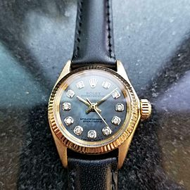 Ladies Rolex Oyster Perpetual ref.6619 25mm 18k Gold Automatic, c.1960s LV875BLK