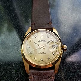 Men's Tudor Prince Date ref.740001 34mm Gold-Capped Automatic, c.1980s LV955BRN