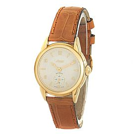 Lorenz Lady Anniversaire 18k Yellow Gold Quartz Silver Ladies Watch 16553AD