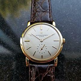 Vacheron Constantin Mens 32mm 18K solid gold 4667 1960s Swiss Made Watch LV435
