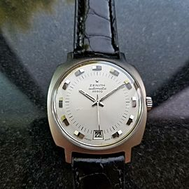 Zenith 36mm 28800 Automatic w/ Date 1960s Rare Mens Swiss Vintage Watch LV492