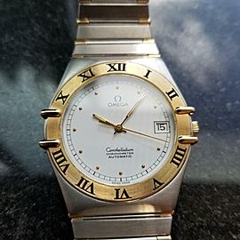 OMEGA Men's 35mm Constellation 18K Gold & Stainless Automatic 1980s Swiss LV507