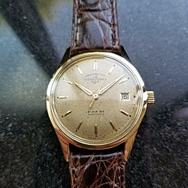 Vintage Ulysse Nardin 1950s 34mm Chronometer Automatic w/ date Gold-Capped LV528
