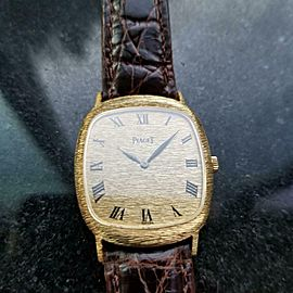 Men's Piaget Midsize Unisex 18K Solid Gold Ref.9228 27mm Hand-Wind 1990s LV517