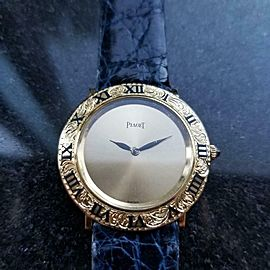 Unisex Piaget 18K Gold ref.9118 Manual Wind Dress Watch, c.1970s Swiss LV634