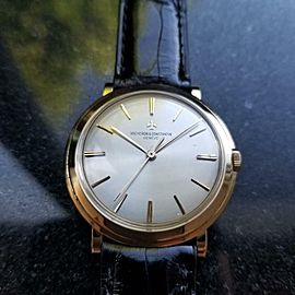 Vacheron & Constantin Men's 18K Gold 1960s 34mm 4986 Hand-Wind Dress Watch LV599