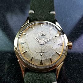 Mens Omega 1950s 35mm Gold-Capped Constellation Automatic Vintage Watch LV649GRN