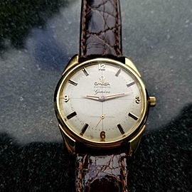 OMEGA Men's 1950s Geneve Automatic 35mm Gold-Capped Swiss Vintage Watch LV650