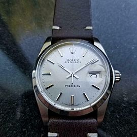 Men's Rolex Oysterdate Precision 6694 35mm Hand-Wind Watch, c.1980s LV677BRN