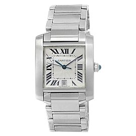 Cartier Tank Francaise Stainless Steel Automatic Silver Men's Watch W51002Q3
