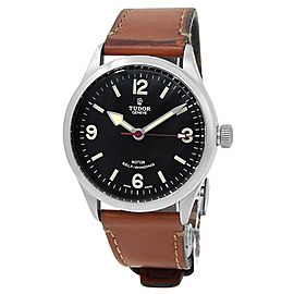 Tudor Heritage Ranger Stainless Steel Leather Automatic Black Men's Watch M79910