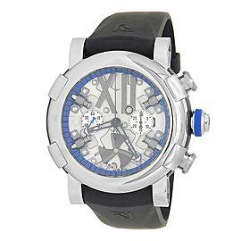 Romain Jerome Steampunk Chrono Blue Steel Skeleton Men's Watch RJ.T.CH.SP.005.02