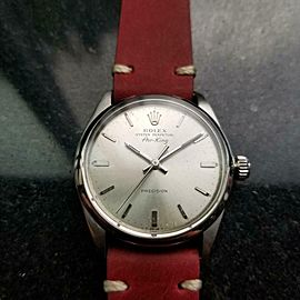 Men's Rolex Oyster Air-King 5500 34mm Automatic 1960s Vintage Watch LV679RED
