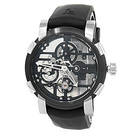 Romain Jerome Skylab Speed Metal PVD Steel Black Skeleton Watch RJ.M.AU.030.01