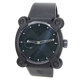 Romain Jerome Moon Invader PVD Steel Rubber Black Men's Watch RJ.M.AU.IN.001.01