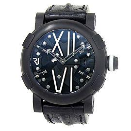 Romain Jerome Steampunk PVD Steel Black Skeleton Men's Watch RJ.T.AU.SP.005.01