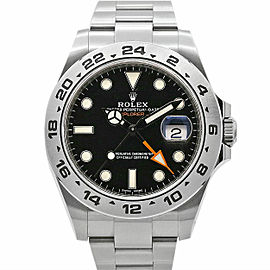 Mens Rolex Explorer II, 42mm, Stainless Steel, Black Dial, 216570