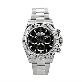 Men's Rolex Daytona Cosmograph 40 mm, Stainless Steel with Black Dial, 116520