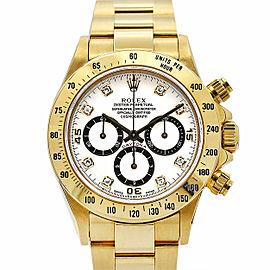 Men's Rolex Daytona Zenith 40mm, 18k Yellow Gold, White dial, 16528