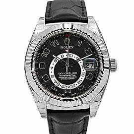 Men's Rolex Sky-Dweller 42, 18k White Gold, Black Dial, 326139