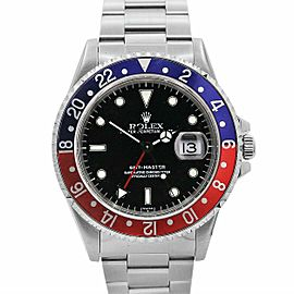 Men's Vintage Rolex GMT-Master Z series 40, Stainless Steel, Black dial, 16700