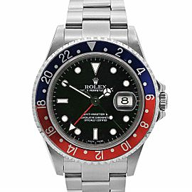 Men's Vintage Rolex GMT-Master 40mm, Stainless Steel, Black dial, 16700