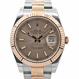 Men's Rolex Datejust 41, Stainless Steel, 18K Everose Gold, Sundust Dial, 126331