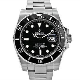 Men's Rolex Submariner Date 40, Steel, Black dial, Black Ceramic Bezel, 116610LN