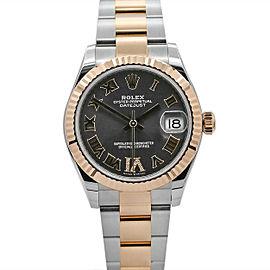 Men's Rolex Datejust 31, Stainless Steel, 18k Everose Gold, Rhodium Dial, 278271