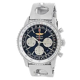 Breitling Navitimer 01 Stainless Steel Chronograph Auto Black Men's Watch AB0120