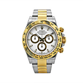 Men's Rolex Cosmograph Daytona 40, Steel, 18k Yellow Gold, White Dial, 116503