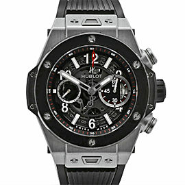Men's Hublot, Big Bang Unico 45, Titanium, Ceramic, Skeleton dial 411.NM.1170.RX