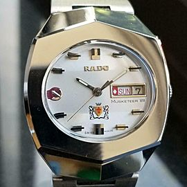 Rado Vintage Musketeer VIII 1970s Automatic Mens Stainless Swiss 35mm Watch L200