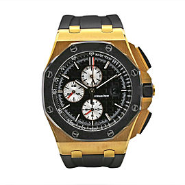 Men's Audemars Piguet Royal Oak 44 18k Rose Gold Black Dial 26401RO.OO.A002CA.01