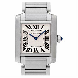 Cartier Tank Francaise W51011Q3 Steel 30.0mm Women's Watch