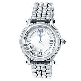 Chopard Happy Sport Stainless Steel Quartz Diamonds White Watch 278236-3005
