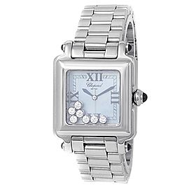 Chopard Happy Sport Stainless Steel Diamonds Blue MOP Ladies Watch 278349-23